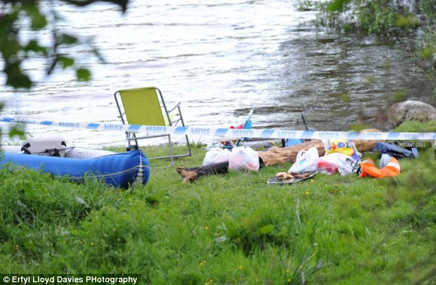 It is understood that a four-year-old child was on the kayak when it capsized and was rescued by his father