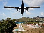 BAW899 Light inter island aircraft makes steep descent into St Barts airport runway