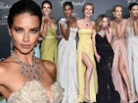 Newly single Adriana Lima wows at Cannes Chopard party in bridal white dress... while her model pals dazzle in an array of colourful gowns
