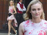 The city is her catwalk! Diane Kruger parades her amazingly toned legs in pink flowered frock while out in New York