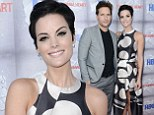She's a human Marvel! Thor star Jaimie Alexander shows off her slender figure in polka dot dress with boyfriend Peter Facinelli at The Normal Heart premiere