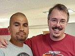 Is this a hint? Daniel Moncada, who played a hit man in Breaking Bad, poses with Vince Gilligan in this new Twitter snap