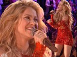 Hogging the limelight! Shakira steals the show from contestants during racy performance on The Voice's grand finale