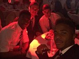 The Liverpool Boys: Daniel Sturridge tweeted this picture with Sterling, Henderson and Flanagan