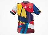 Patchwork: Nike are to release an commemorative Arsenal shirt celebrating their 20-year partnership