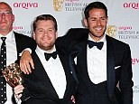 All smiles: Redknapp and Corden pose with A League Of Their Own staff (from left to right) Danielle Lux, Murray Boland, David Taylor and Jim Pullin