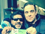 Robbie Williams has been tricked by Germany's most famous Maradona double after he spotted him in the ski resort of Ischgl in the southern Austrian province of Tirol