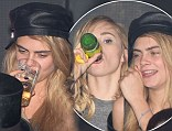 Model Act: Cara Delevingne jets into France to party with BFF Suki Waterhouse at the 67th Cannes Film Festival