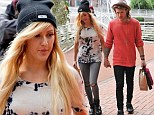 Another day... another PDA! Ellie Goulding and Dougie Poynter looked loved-up once again as they headed out in Manchester hand-in-hand