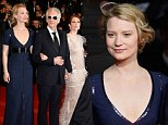 Mamma Mia that's low! Wasikowska wears a daring custom-made Luis Vuitton gown that (almost) cuts to her midriff at the Cannes premiere of Maps To The Stars