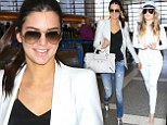 No big deal! Kendall Jenner brushes off on-air flub as she and Khloe Kardashian jet off to Paris for Kim's wedding