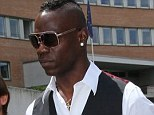 Babymother drama: Mario Balotelli arriving at court in Brescia, Italy