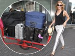 Kylie Minogue jets out of Heathrow