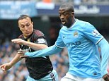 Upset: Yaya Toure says that no one wished him happy returns at a title celebration party that coincided with his 31st birthday