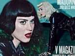 When pop royalty meets! Madonna teams up with Katy Perry in teaser snaps for racy bondage-inspired shoot