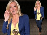 Summery look: Michelle Mone showed off her cleavage in a low-cut top as she headed out in London on Monday night