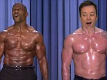 Pecs appeal: Jimmy Fallon and Terry Crews perform topless duet on The Tonight Show