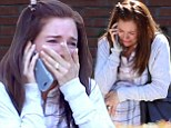 Sienna Miller bursts into tears and clutches her fake baby bump while filming emotional scene for American Sniper