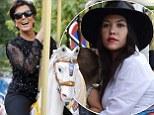 Kourtney Kardashian takes Mason and Penelope on Eiffel Tower carousel but granny Kris is having all the fun