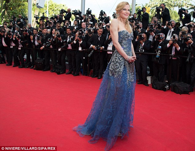 Disappointing reception: The actress, 46, made a glamorous appearance at the Cannes Film Festival last week where her latest film Grace Of Monaco was panned critics