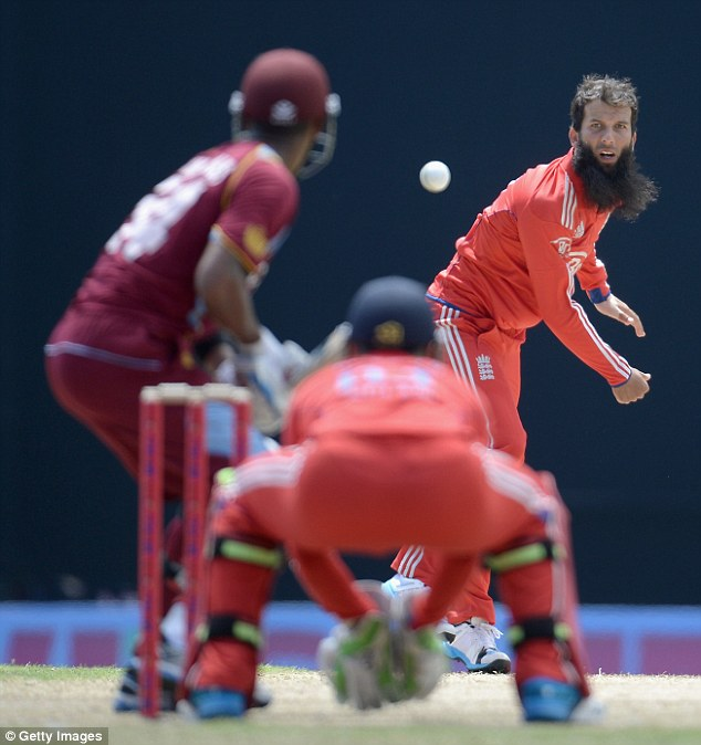 On the scene: Ali made his international debut in the Caribbean in a one-day series against West Indies