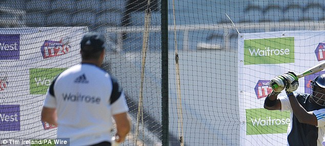 Fine tuning: England trained at The Oval on Sunday ahead of their T20 international against Sri Lanka