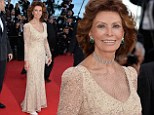 Going for gold: Sophia Loren looked every inch as glamorous as she did in her heyday as she walked the red carpet at the 67th Cannes Film Festival on Tuesday night
