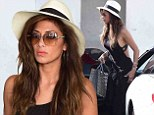 Lunch date: The 35-year-old recording artist went to lunch at Italian restaurant E Baldi in Beverly Hills dressed in a full-length dark brown maxi dress that revealed most of her back and an off-white Panama style hat