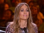 Getting emotional: Jennifer Lopez was moved by the American Idol finalists as they battled it out to see who will be the winner