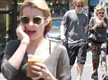 Awful Scary Trousers! Emma Roberts sports baggy floral bottoms during lunch outing with fiance Evan Peters
