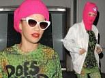 Rita Ora wears pink balaclava
