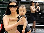 Kim Kardashian steps out with baby North