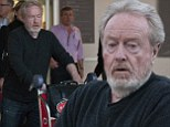 Acclaimed film director Ridley Scott sneakily arrives in Sydney but a chaffeaur blows his cover