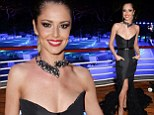 That's one way to get attention! Cheryl Cole wears dangerously low cut strapless gown as she mingles with A-Listers in Cannes