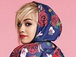 Flower power: Rita Ora has been announced as the first female musical artist collaborator with Adidas (pictured, wearing a jacket from her collection for the brand)