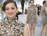 Marion Cotillard dazzles in sequin encrusted mini dress for Two Days, One Night photo call at the 67th International Cannes Film Festival