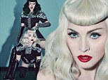 Doing it like Madonna! Katy Perry says she hopes to become as provocative as the music icon as the first ladies of pop pose in a raunchy dominatrix inspired shoot