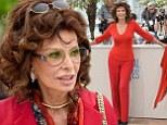 Sophia Loren wears two pairs of glasses in Cannes