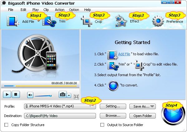 How to Convert AVI to iPhone 4S H264/MPEG-4 for Play AVI upon iPhone 4S or Play 1080p upon iPhone 4S