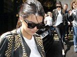 Effortlessly elegant: Kendall Jenner rocked a leather ensemble as she steps out for a spot of sight-seeing in Paris on Thursday