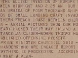 A blow-by-blow account of the D-Day invasion taken from rolling news bulletins which detailed the action as it unfolded has gone up for sale in New York