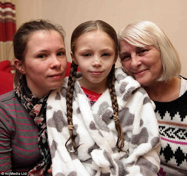 Passengers: At the time of the incident Abbie (centre)  was travelling in the vehicle with her grandmother Sandra Webb (right), her mother Clare Webb (left), and her younger sister Lexi