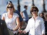 The Bush women: Jenna Bush Hager, Laura Bush, and one-year-old Margaret 'Mila' Bush took a leisurely stroll along the Hudson River in New York City on Tuesday