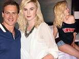 'You're the best I've ever had': Now Ireland Baldwin sends racy tweet to bisexual Angel Haze before cosying up to Ryan Lochte at fashion bash