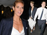 Heidi Klum looks fresh faced as she leaves Cannes yacht bash despite partying the night away with boy toy Vito Schnabel
