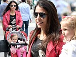Pretty in pink! Bethenny Frankel wears coral leather jacket as daughter Bryn matches in rose tutu