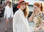 Good pals: Cara Delevingne and Jessica Chastain looked to be having a whale of a time as she spent time together in Cannes on Wednesday