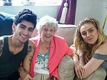 Happy family: One Direction star Zayn Malik met fiancee Perrie Edwards' great-grandmother Jenny Gasston over the weekend