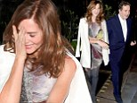 Trinny Woodall and Charles Saatchi enjoy another evening out together at their favourite London restaurant Scott's