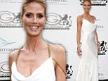 Radiant on the Riviera! Heidi Klum attracts the light in silky white gown while attending Puerto Azul Experience gala at Cannes
